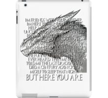 Tyrion Lannister Game Thrones GOT Imp Dragon Speech But Here You Are iPad Case/Skin
