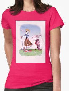 Golf Widow, tony fernandes Womens Fitted T-Shirt