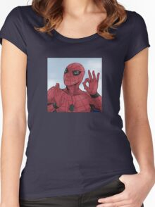 Spider-man On Point Women's Fitted Scoop T-Shirt