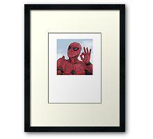 Spider-man On Point Framed Print