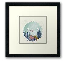 The balloon fish Framed Print