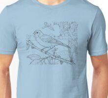 Chaffinch Black on White Unisex T-Shirt