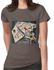Kandinsky - White Cross Womens Fitted T-Shirt