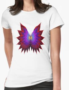 Butterfly Wings Womens Fitted T-Shirt