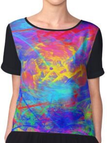 Color Chaos Chiffon Top