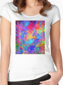 Color Chaos Women's Fitted Scoop T-Shirt