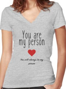Grey's Anatomy - You are my Person Women's Fitted V-Neck T-Shirt