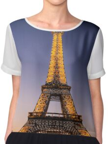 Eiffel Tower and sunset (2) Chiffon Top
