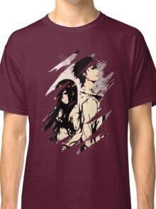 Steins Gate  Okabe And Makise Anime  Classic T-Shirt