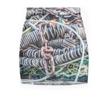 Net, Rubber and Metal Chains Mini Skirt