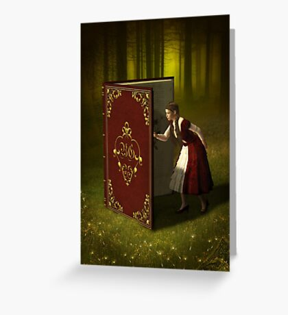 Book of Tales and Secrets Greeting Card