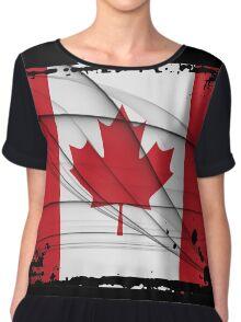 Canadian Flag Chiffon Top