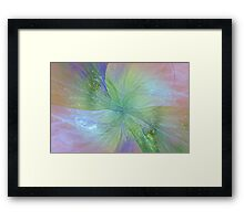 Mystic Warmth Abstract Fractal Framed Print