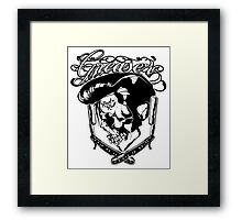 Elvis inspired Greaser design - Rock and Roll Framed Print