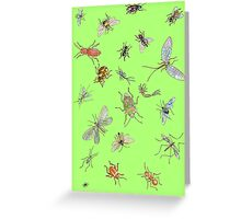 Creepy crawlies: spring edition Greeting Card