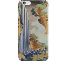 Vintage famous art - Hokusai Katsushika - Ono Waterfall, The Kiso Highway iPhone Case/Skin