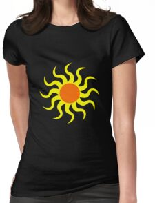 Sun van Gogh's style vector Womens Fitted T-Shirt