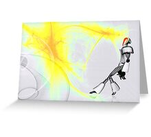 Abstract Android Greeting Card