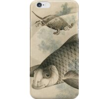 Vintage famous art - Hokusai Katsushika - Picture Of Koi Carp And Turtles iPhone Case/Skin