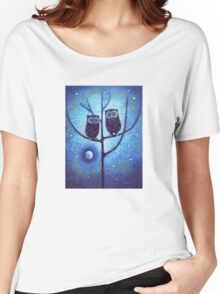 Owls On Menorah Tree Women's Relaxed Fit T-Shirt