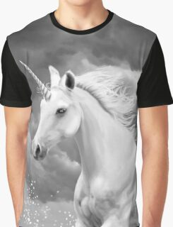 Unicorn in Snow Graphic T-Shirt
