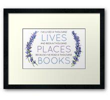 Read a Thousand Books Framed Print