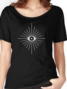 Kaleidoscope Eyes - Black and White Women's Relaxed Fit T-Shirt