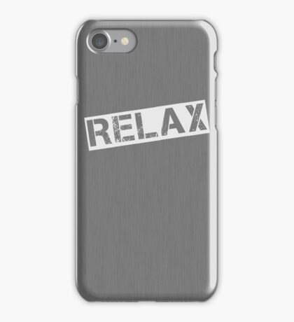 Grey Relax iPhone Case/Skin