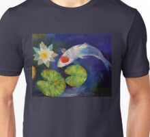 Tancho Koi and Water Lily Unisex T-Shirt