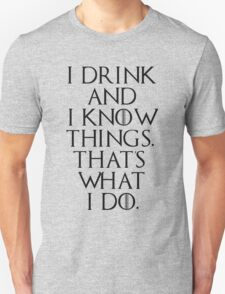 game of thrones drinking game  Unisex T-Shirt