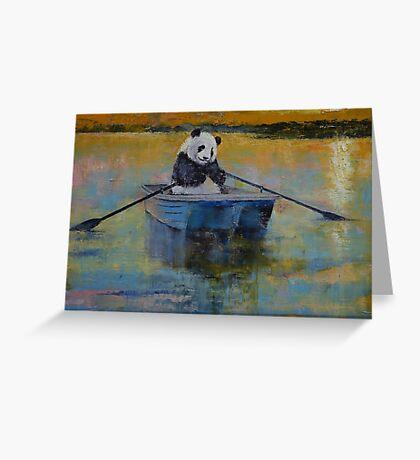 Panda Reflections Greeting Card