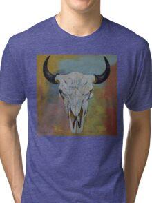 Bison Skull Tri-blend T-Shirt
