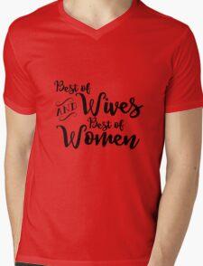 Best of Wives Best of Women (black) Mens V-Neck T-Shirt