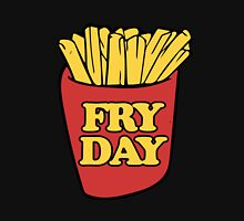 Fry Day Fryday french fries Womens Fitted T-Shirt