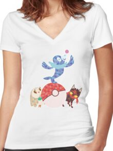 Sun and Moon starters Women's Fitted V-Neck T-Shirt