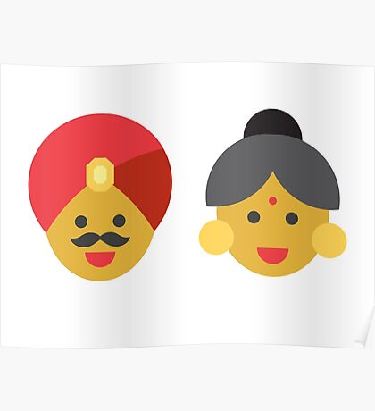 an indian man and woman Poster