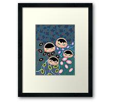 Cnidaria Siblings Framed Print