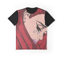 Red Head Crying Comic Girl Graphic T-Shirt