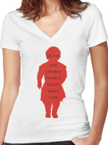 drink and i know things Women's Fitted V-Neck T-Shirt