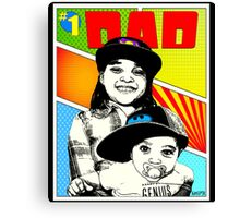 #1 Dad Canvas Print