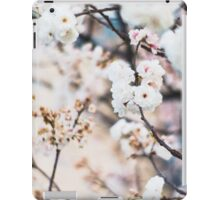 Pretty white blossoms iPad Case/Skin
