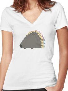 Porcupencil Women's Fitted V-Neck T-Shirt