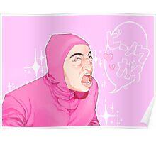 Kawaii Pink Guy Filthy Frank Poster