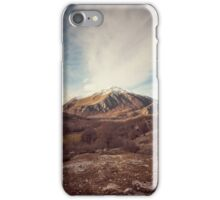Mountains in the background XVII iPhone Case/Skin