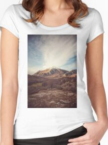 Mountains in the background XVII Women's Fitted Scoop T-Shirt