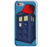 Tardis with a Fez iPhone Case/Skin