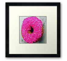 Sprinkles donut Framed Print