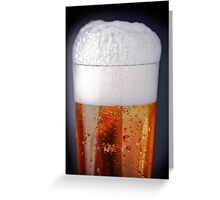 Full glass of cold beer Greeting Card
