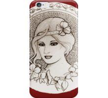 graphic art nouveau iPhone Case/Skin