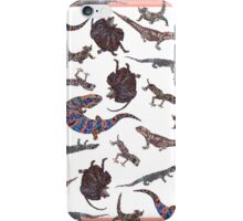Little Lizzies on pink and beige iPhone Case/Skin